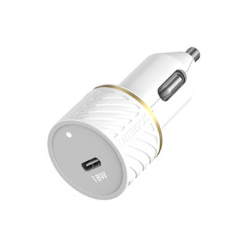 OtterBox 18W USB-C PD CLA Car Charger is durably designed for travel, featuring a smart and compact design.     The OtterBox 18W USB-C PD CLA Car Charger will power up a device — FAST. Durably designed for the journey ahead these chargers are drop and vibration tested and wrapped in a tough exterior. Featuring a smart and compact design with single USB-C port.