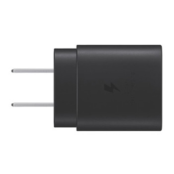 This Samsung wall charger with 25-Watt Super-Fast Charge capability uses Power Delivery (PD) to provide the most efficient charge possible. Plug into any standard wall outlet via the include AC adapter. The Samsung Super-Fast 25W charger delivers up to 3 Amp to give your phone power at a much faster rate than your standard 1A or 700mA charger. Samsung wall charger with 25-Watt Super-Fast Charge capability uses Power Delivery (PD) to provide the most efficient charge possible. Any PD device, including Galaxy Note10, can charge at up to 25W. Other USB-C devices rates will vary. Super-Fast Charging requires a USB PD 3.0 compatible device that supports Direct Charging. Compatible with all Samsung S series smartphones, including Samsung Note series and Samsung tablets.
