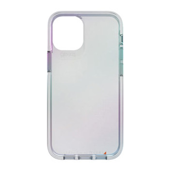 The Gear4 D3O Iridescent Crystal Palace Case has a protective sleek transparent construction that best shows off the cellular device with a patter of lustrous colour. Gear4's most transparent protective phone case is now iridescent! That soft translucent colour palette is back, and what's not to love?  Subtle hues of yellow, purple, and blue appear to spill over the edges of the phone, and D3O® Impact Protection safeguards from drops and scratches. Approved by D3O®D3O® is a world-renowned specialist impact protection company, that uses its unique knowledge and know-how to advise regulatory bodies on the best practice for impact protection.D3O®is a patented material proven to deliver superior impact protection through advanced shock absorption. D3O® is used by the military and medical field as well as in workwear, sports apparel, motorcycle apparel and footwear. D3O® material has a unique molecular structure that is soft and flexible, but on shock, the molecules lock together causing impact energy to dissipate which reduces force and then returns to its flexible state. The greater the force of the impact, the more the molecules lock together and the greater the protection.