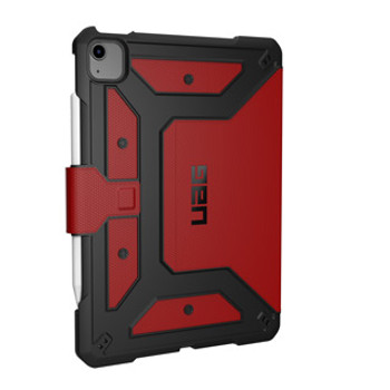 A lightweight design backed by military-grade protection. The UAG Metropolis case features all-around protection and an integrated stand for optimal viewing.      The Metropolis case is extremely appealing to the eye as a high-end, industrial grade rugged case. The textured outer material is backed with Frogskin Technology to provide grip in wet or damp conditions for easy hold of the device, while a rubber core and bumpers resist impact from drops and abuse. In addition, there is an adjustable stand and an Apple Pencil holder.