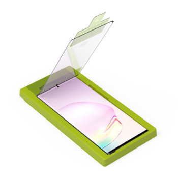 The Case Friendly 9H hardened Glass Screen Protector from PureGear provides 99.9% transparent HD viewing for crystal clear glass.PureGear screen protector comes with an easy installation tray. These tempered glass screen protectors are made to be a little smaller than the actual screen of the device. This is to prevent the protector from overlaying these curved edges which can lead to unwanted bubbling and peeling up around the edges.