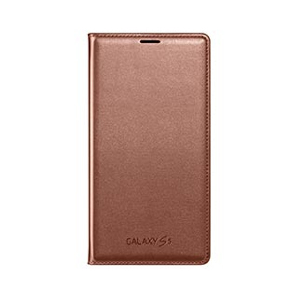 Samsung Galaxy S5/S5 Neo OEM Rose Gold Wallet Flip Cover