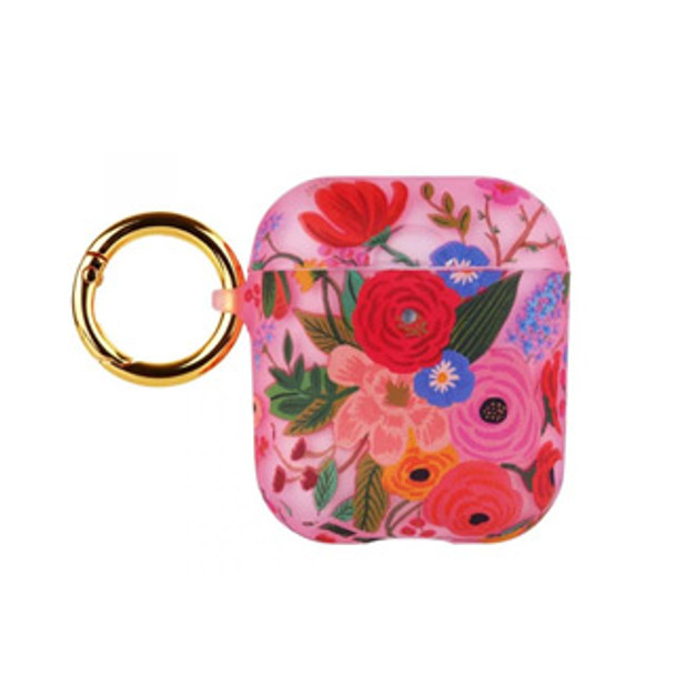 AirPods Rifle Paper Clear Blush Garden Party Case w/ Circular Ring