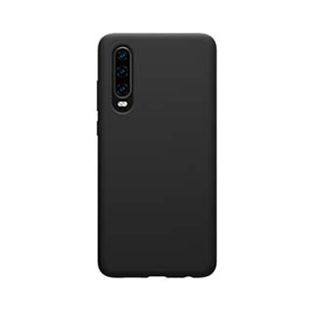 Huawei P30 Uunique Black Liquid Silicone Case