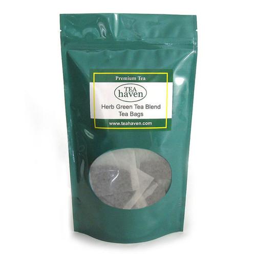 Carob Bean Pod Green Tea Blend Tea Bags