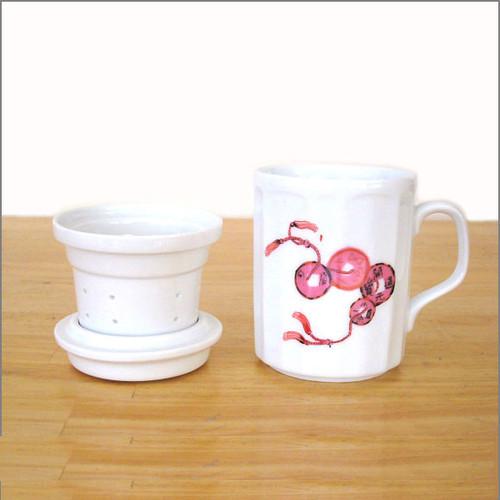 Porcelain Tea Infuser Mug - Coins