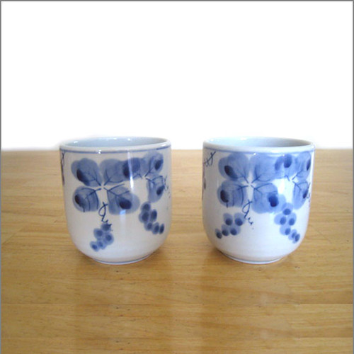 Japanese Tea Cups (Set of 2) - Grapes