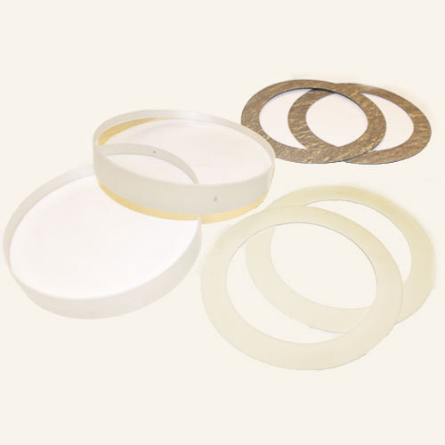 """Replacement Glass & Gaskets for 1"""" with PTFE Gylon 3545 Seals-TXZ 22 D5"""