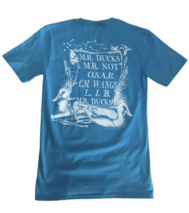 M.R. Ducks® Poem Collection Short Sleeve Tee In Turquiose