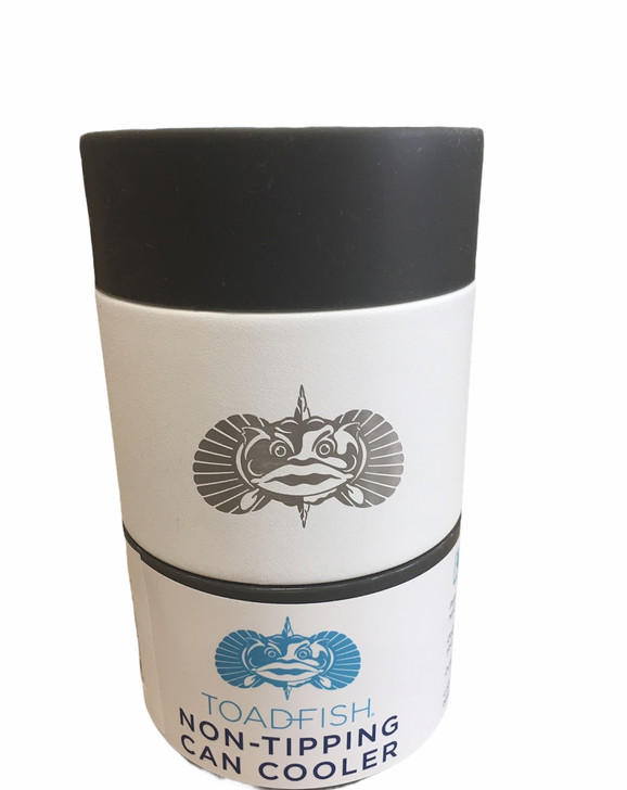 ToadFish® Anchor Non Tipping Can Cooler In White