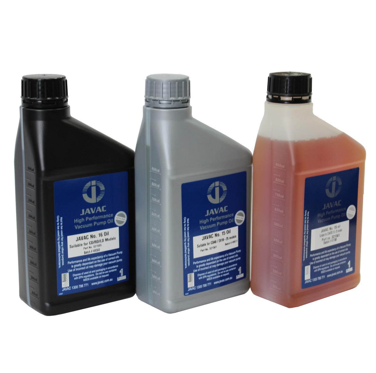 Vacuum Pump Oils 1L (Choose Options)