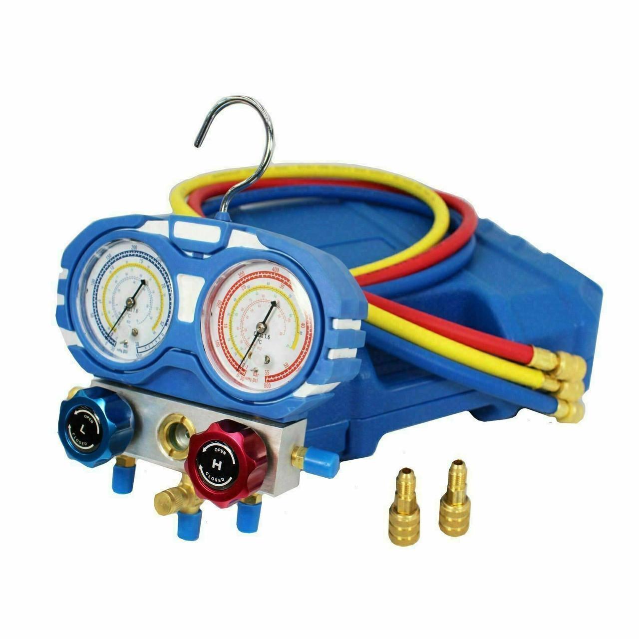 R32 Compliant Non Sparking Vacuum Pump, Leak Detector and Manifold Gauge set