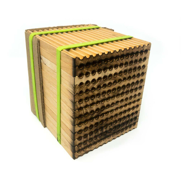 Farm grade wood tray for leafcutter bees - 156-hole