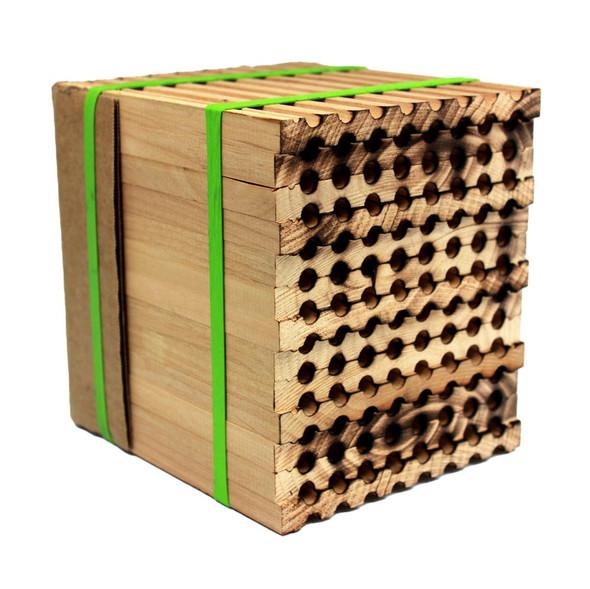 Farm grade 96-hole wood tray