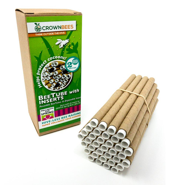 Spring Cardboard BeeTubes and Inserts for Mason Bees - 8mm