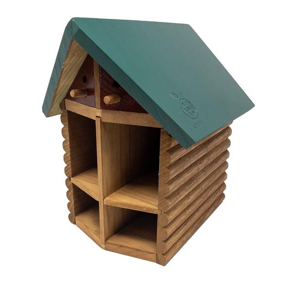 Cabin bee house angle
