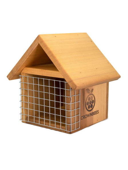 Bird guard for Crown Bees chalet house