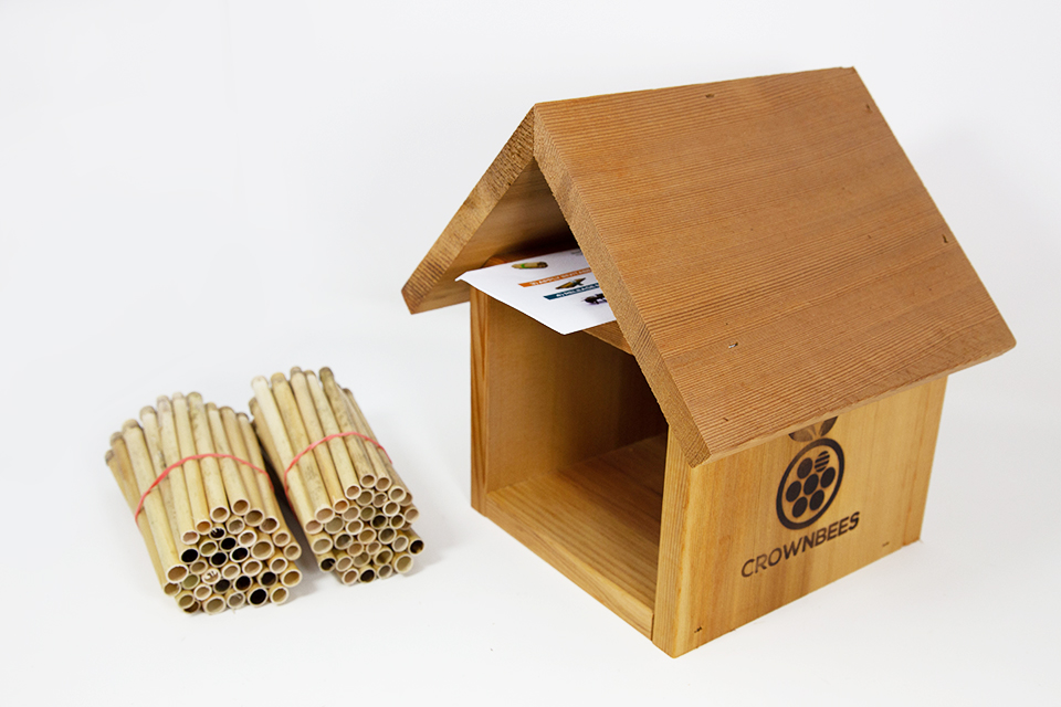 Chalet Bee House & Nesting Material Combos Dual Season Reeds