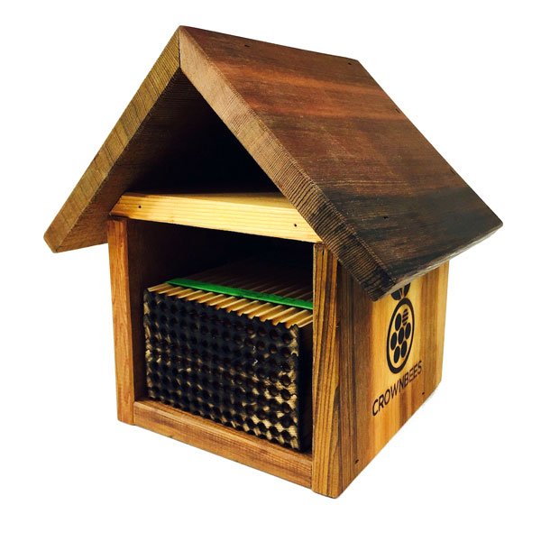 Chalet Bee House & Nesting Material Combos Summer Season Wood Tray