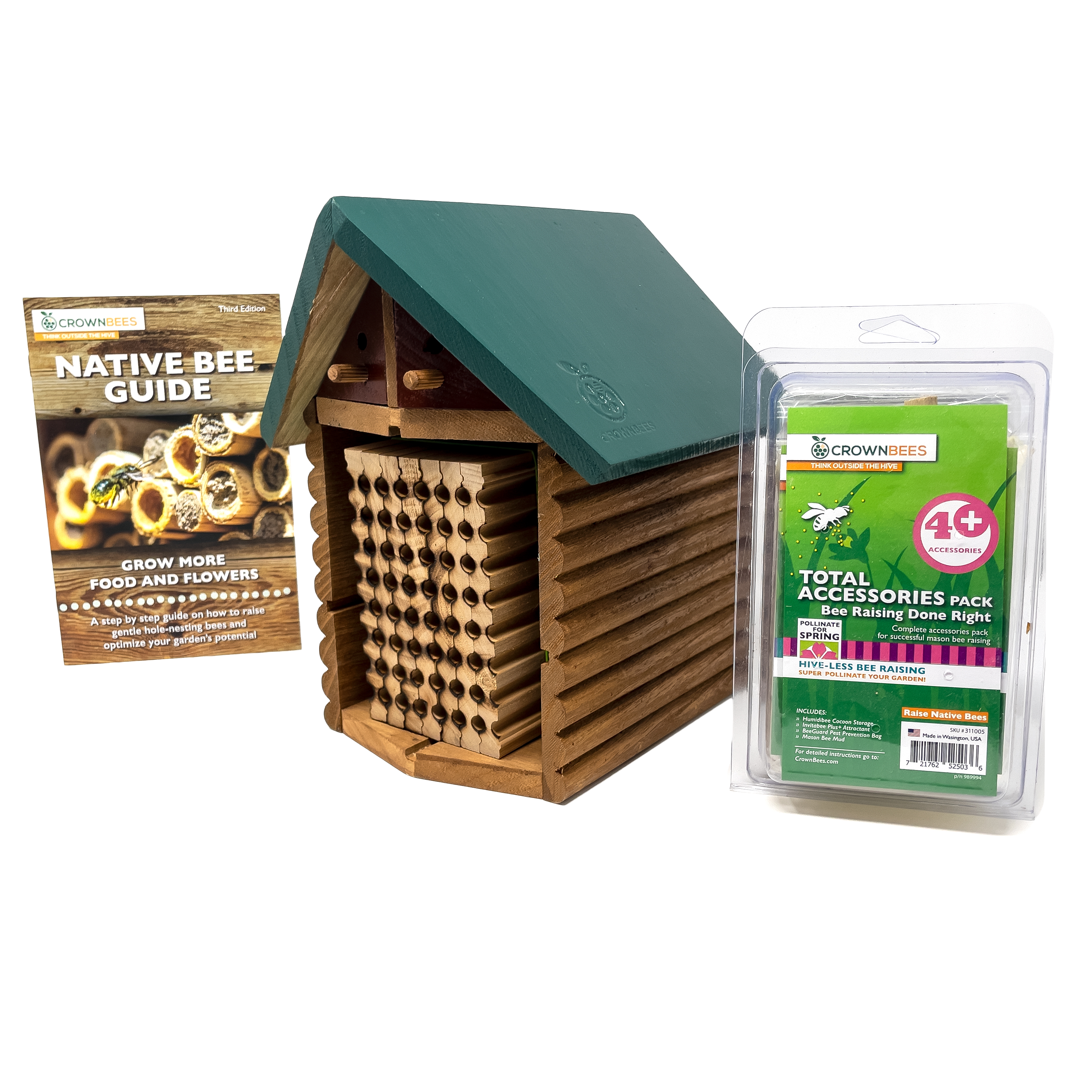 Spring Cabin Kit with 48-Cavity Wood Tray