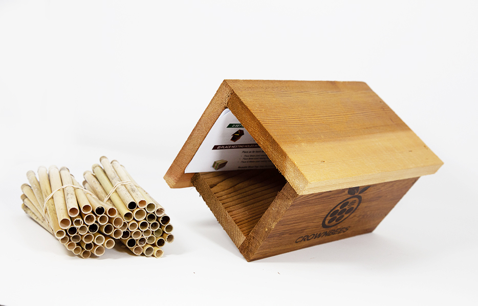 Station Bee House & Nesting Material Combos Spring Season Reeds