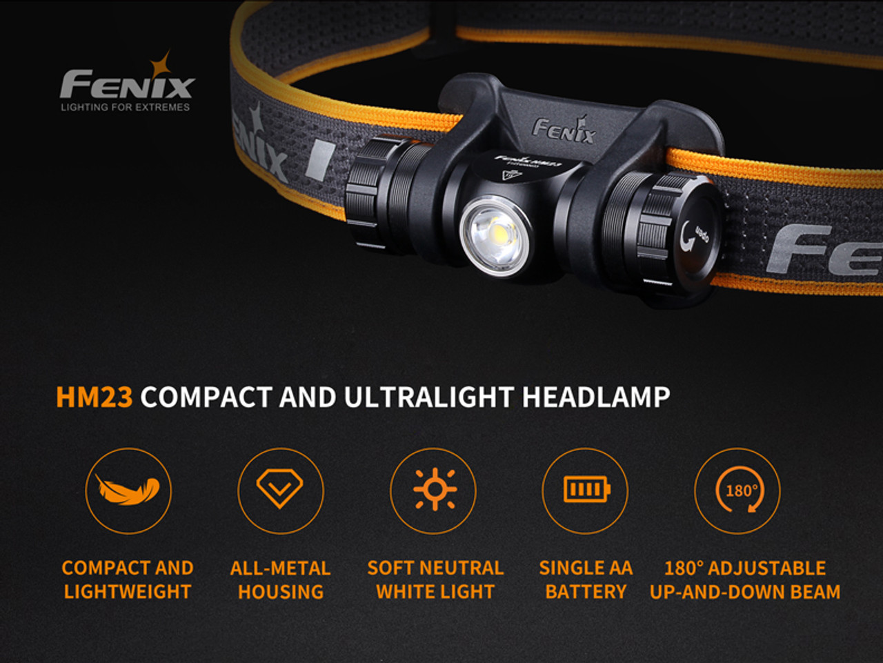 Fenix HM23 Compact Hiking and Running Headlamp