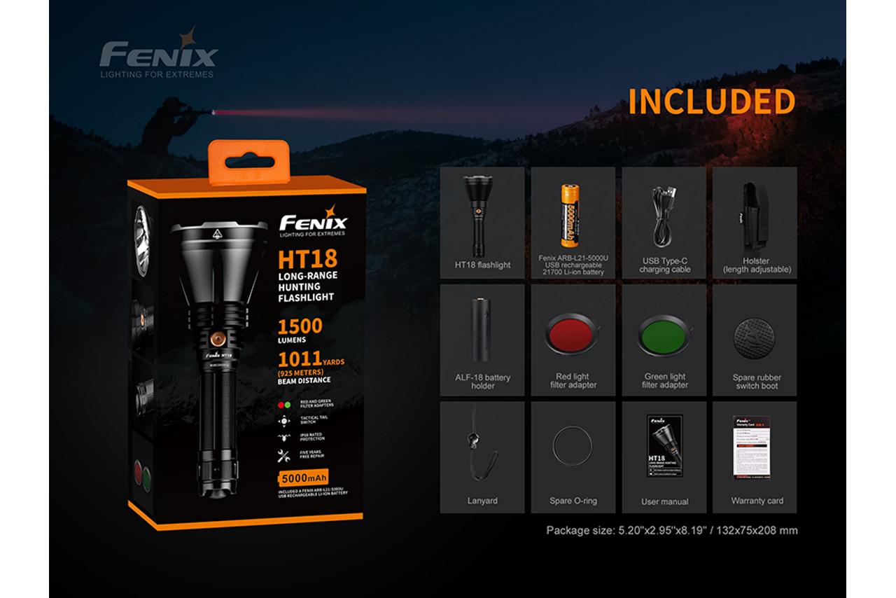 Fenix HT18 LED Hunting Flashlight