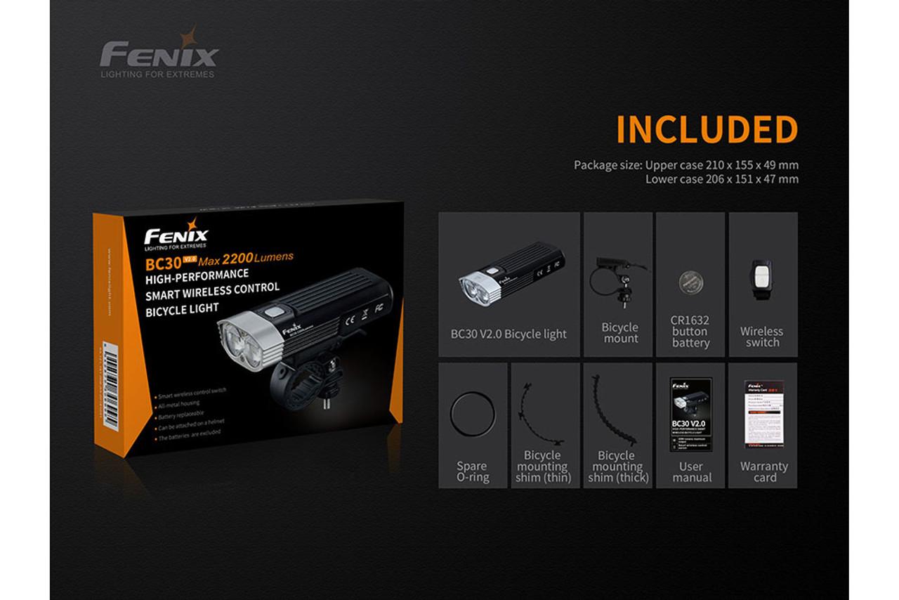 Fenix BC30 V2.0 With Wireless Remote Switch LED Bike Light