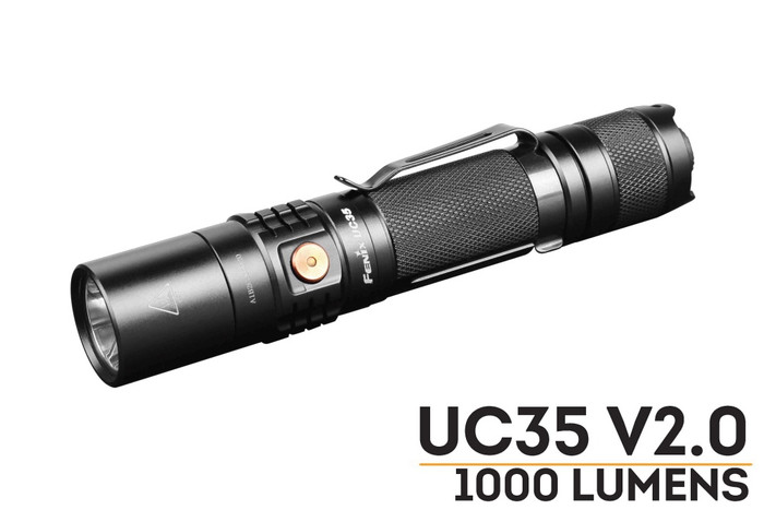 Fenix UC35 V2 1000 lumen flashlight for police and everyday carry