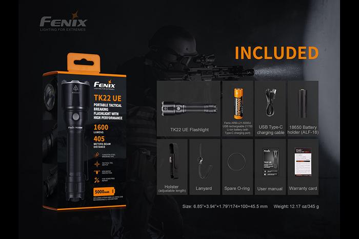 Fenix TK22UE Tactical LED Flashlight-1600 Lumens