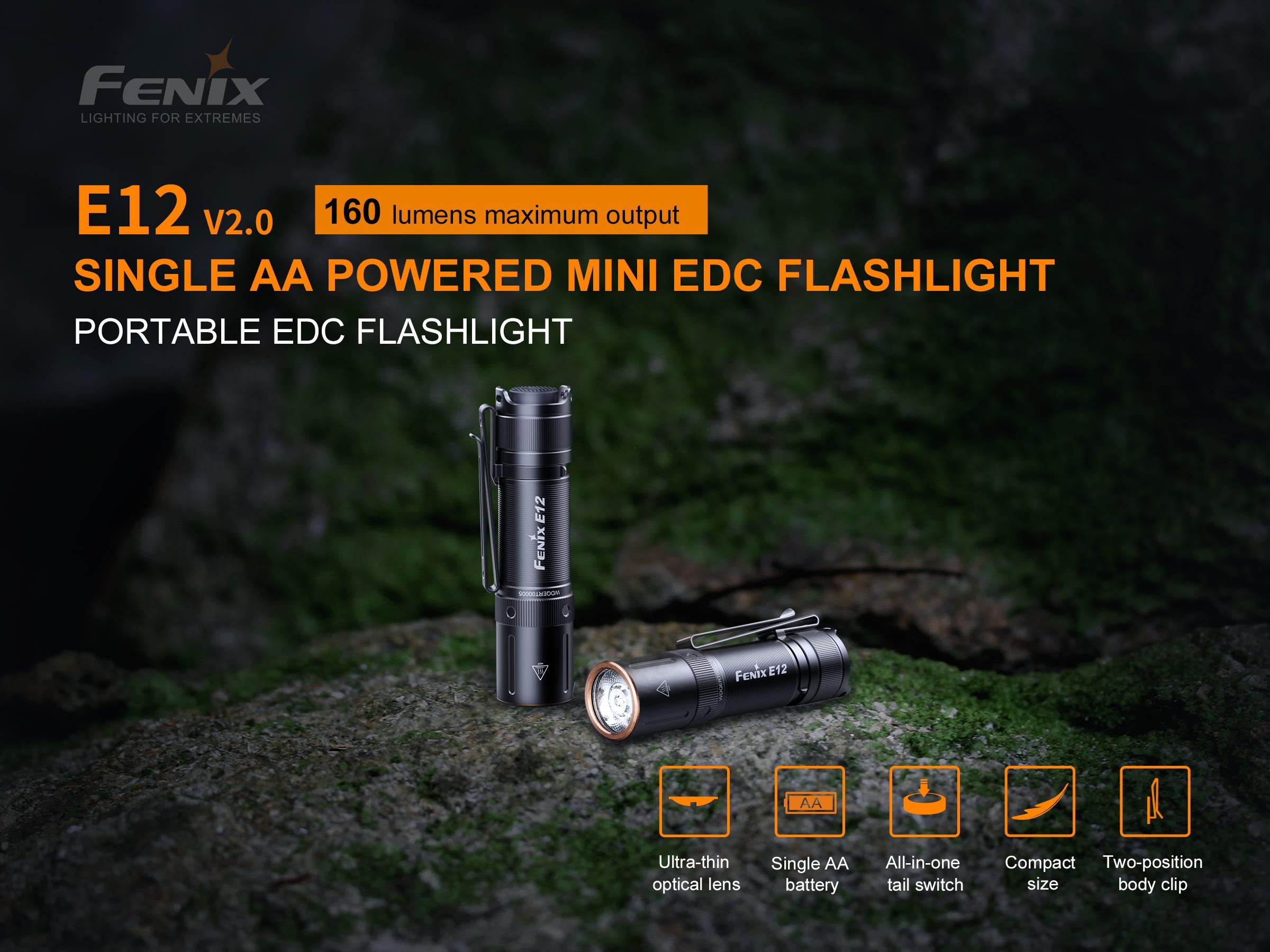 Fenix E12 V2 EDC Flashlight