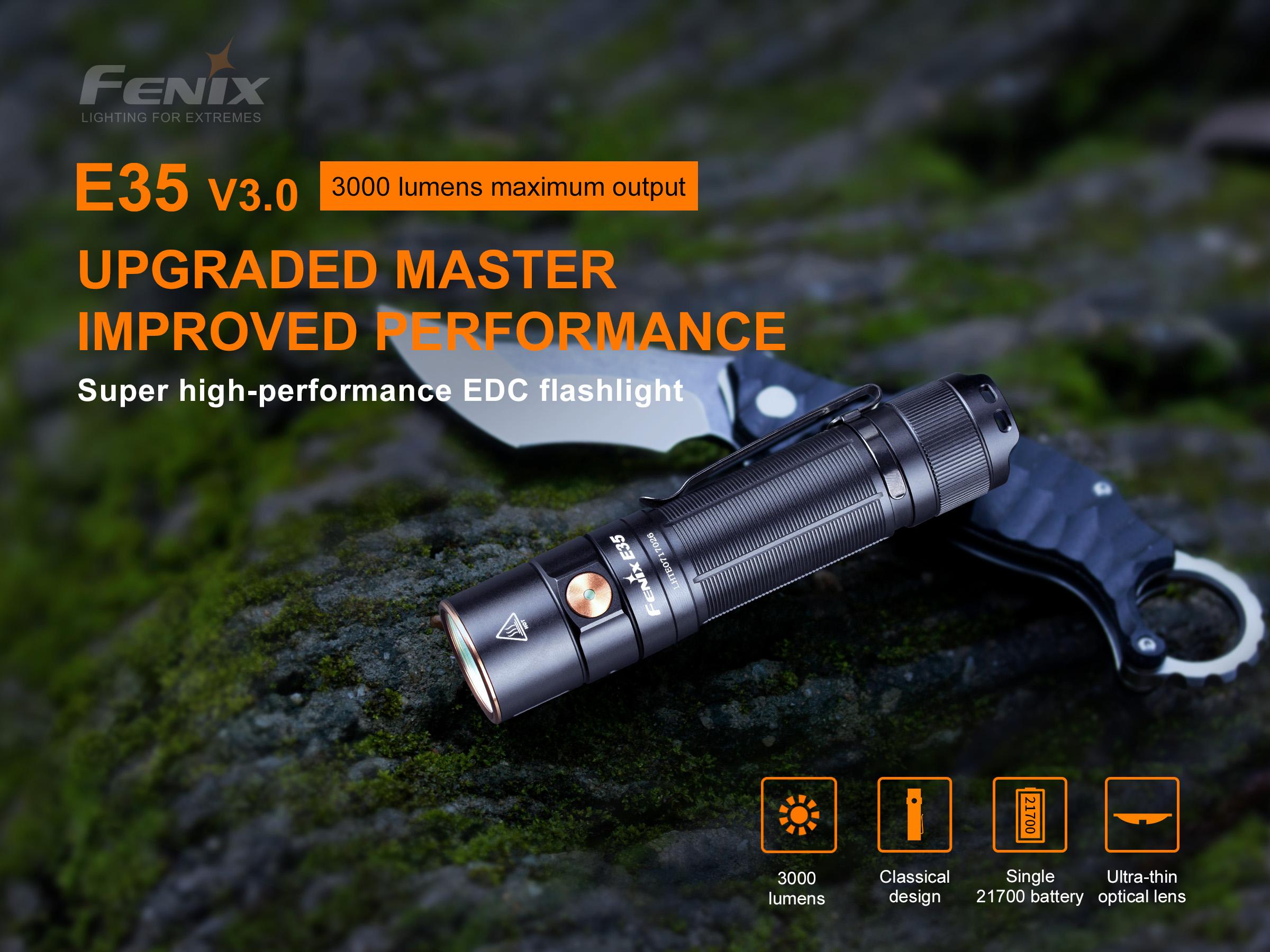 Fenix E35 V3 EDC Flashlight and Emergency Light