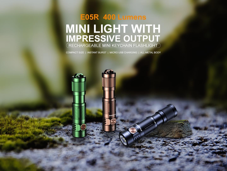 Fenix E05R keychain flashlight
