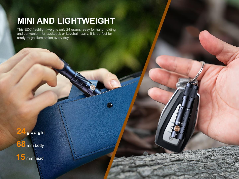 Fenix E05R rechargeable keychain flashlight