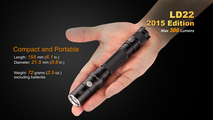 fenix ld22 aa tactical flashlight