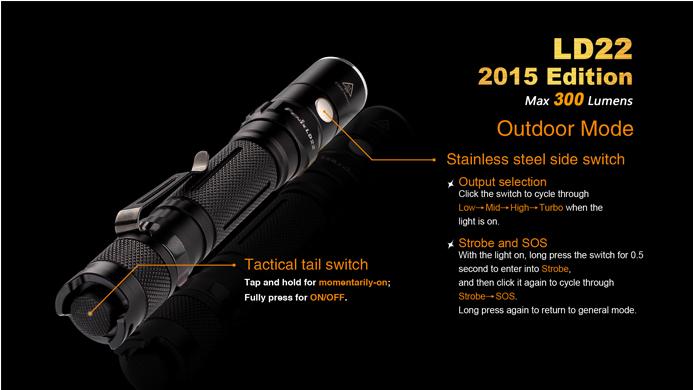 fenix ld22 aa flashlight
