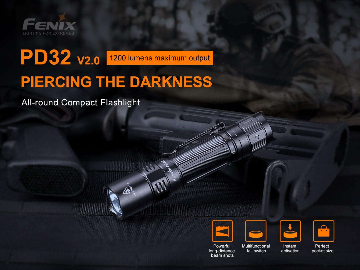 Fenix PD32 V2 Everyday Carry Flashlight