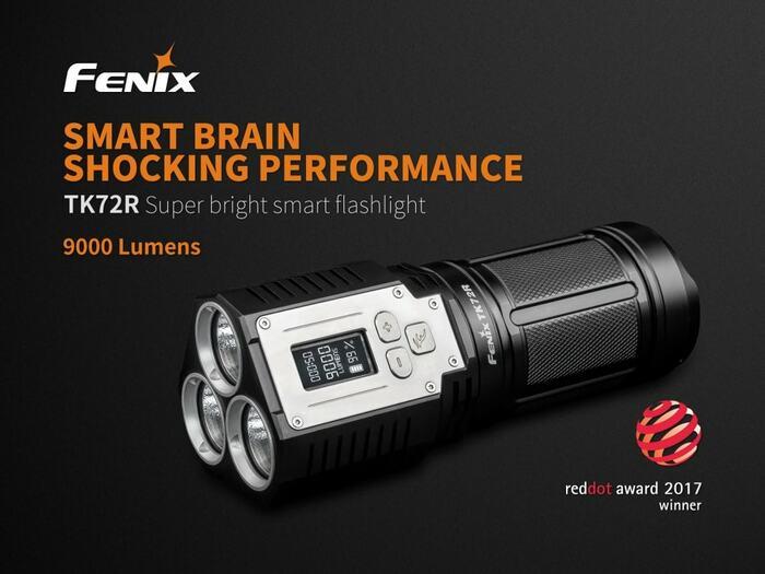 brightest flashlight fenix tk72r