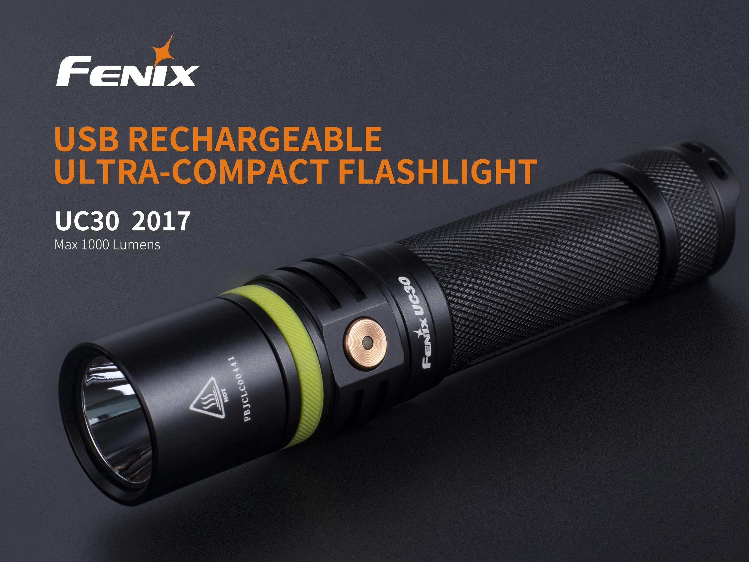 Fenix UC30 rechargeable flashlight