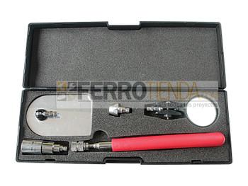 Recogedor magnético iluminado y espejo de inspección