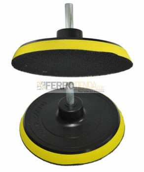 Disco soporte STRONG velcro 115MM con varon de 8mm