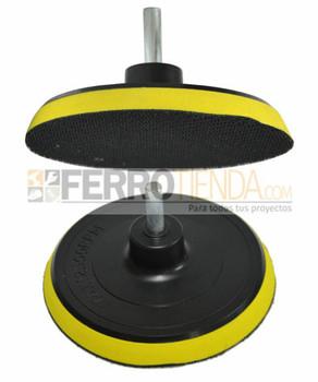 Disco soporte STRONG velcro 115MM con varon de 8mm
