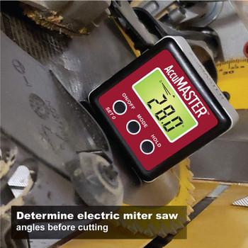 Nivelador 7434 AccuMASTER 2 en 1 Magnético Digital Nivel y Ángulo Localizador/Inclinómetro/Calibre Bisel, Última Tecnología MEMs