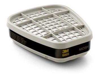 Cartucho Formadehído/Vapor Orgánico 3M™ 6005, Protección Respiratoria 60/caja
