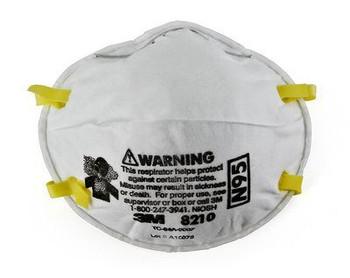 Respirador de partículas 3M ™ 8210, N95 160 EA / Estuche