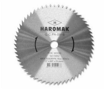 "DISCO DE CORTE PARA MADERA TAGUA HAROMAK 10""X60TX25.4mmX1.8mm"