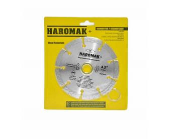 "DISCO DE CORTE DIAMANTADO SEGMENTADO BLISTER HAROMAK  5""X10X22.23"