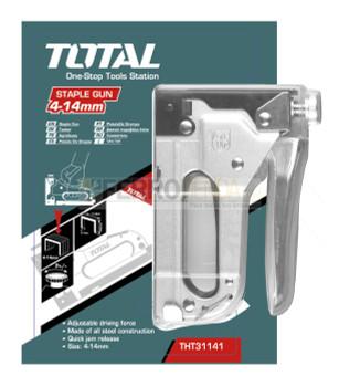 Grapadora TOTAL de acero cromada 4-14mm