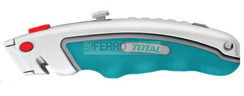 Estilete Industrial TOTAL Aluminio c/hojas trapeciales 19mmx61mm 6 rptos.