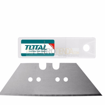 Cuchillas en juego rpto 10pcs 61x19mm p/estilete TOTAL TG5126101/THT512611